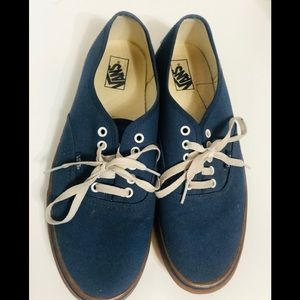 Navy Blue Van Off the Wall Skater Shoes Size 13